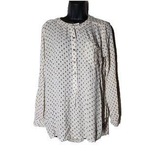 Free People Flowy High Low Blouse Size Small